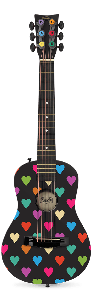 "Black Hearts 30"" Acoustic Guitar"