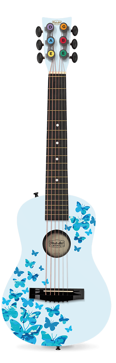"Teal with Blue Butterfly Camo 30"" Acoustic Guitar"