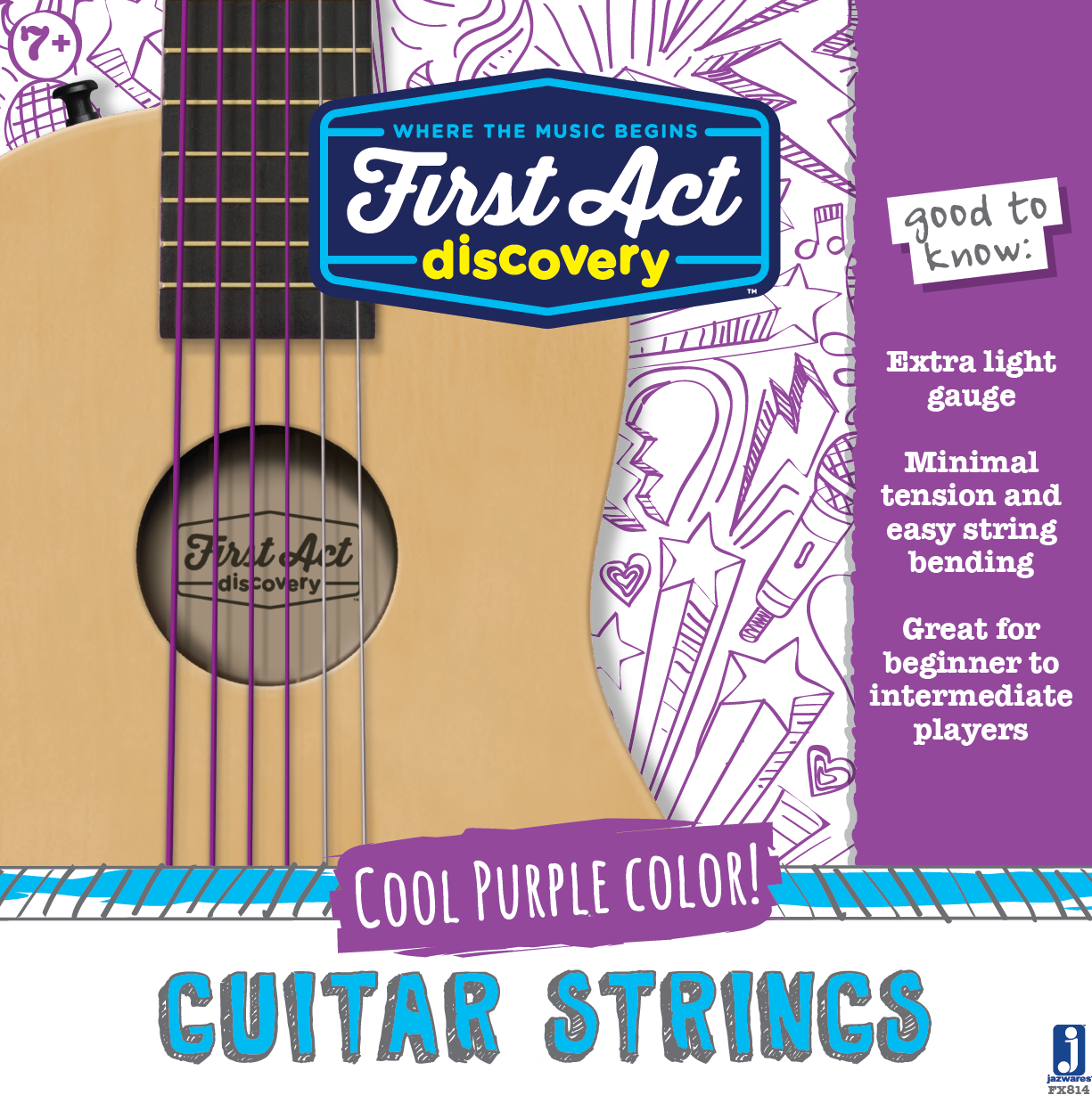 Acoustic Guitar Strings - Plum
