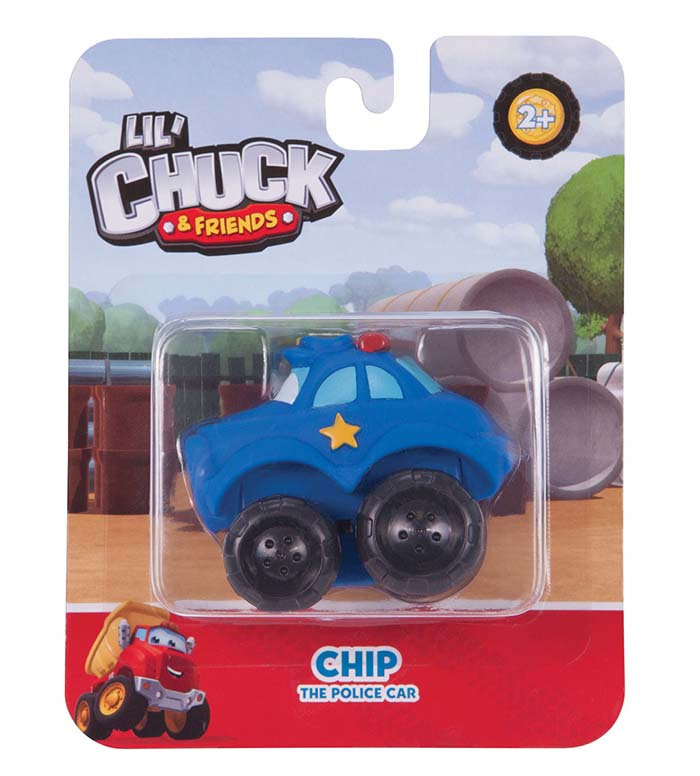 Mini Chip Police Car Carded