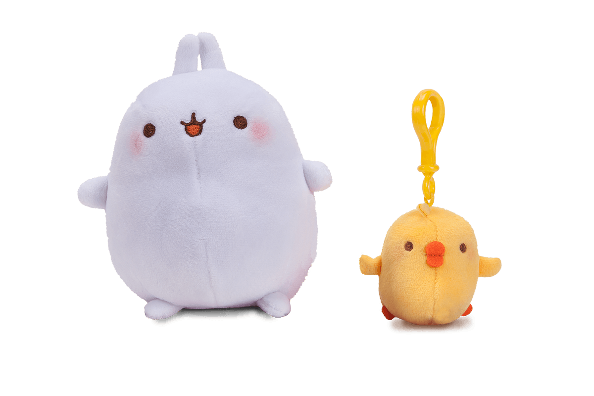Molang Plush & Piu Piu Clip Pack