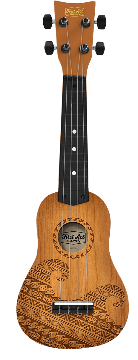 Teak Tribal Wave Ukulele