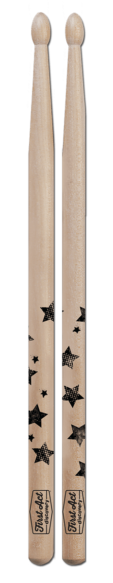 Designer Drum Sticks - Stars