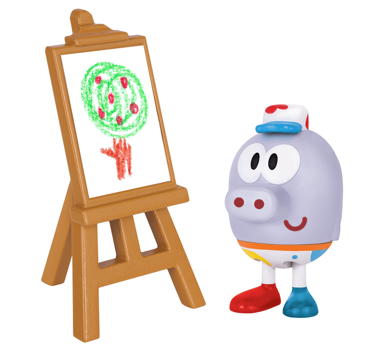 Roly with Painting Easel