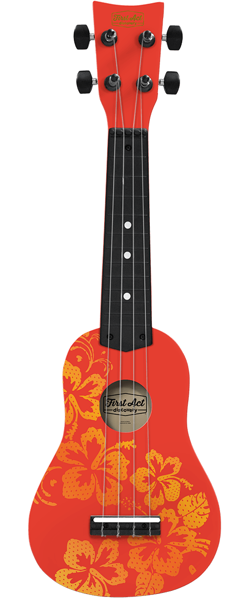 Ukulele Hawaiian Flowers