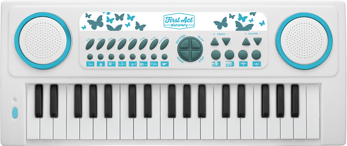 37 Key Keyboard - White Butterfly