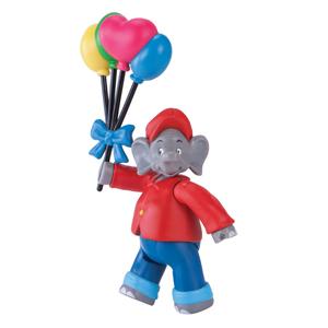 Benjamin Blümchen Figur mit Luftballons
