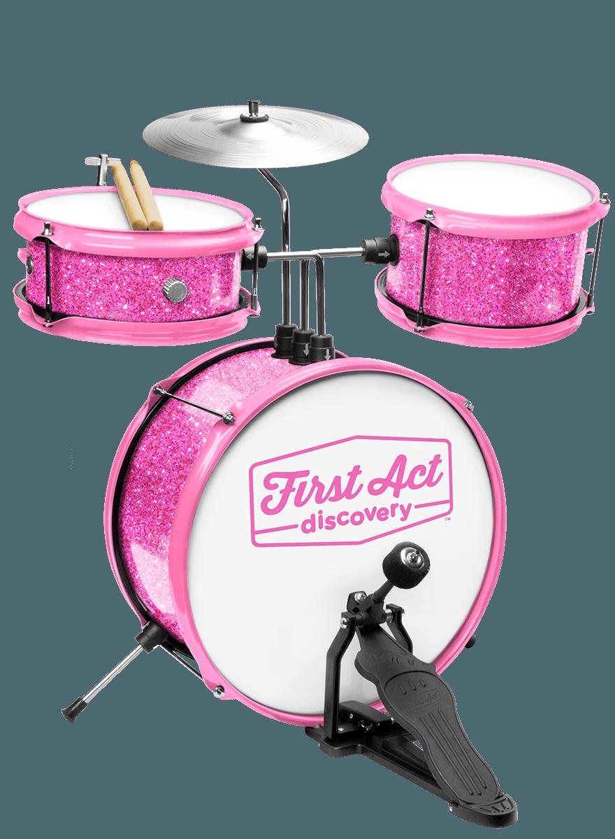 Schlagzeug Mit Sitz Pink Sparkle