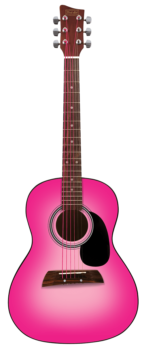 "36"" Acoustic Guitar - Pink"