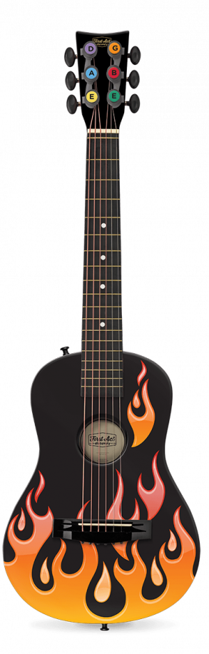"Flames 30"" Acoustic Guitar"