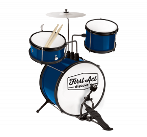 Solid Blue Drum Set
