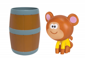 Naughty Monkey with Barrel