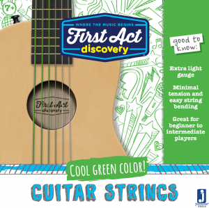 Acoustic Guitar Strings - Green