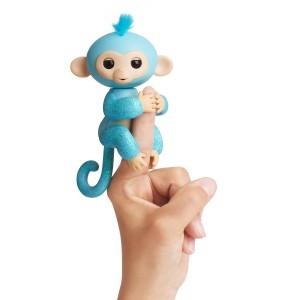 Fingerlings Glitzer Äffchen Amelia blau
